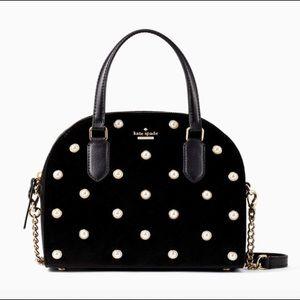 NWT $359 Kate Spade Laurel Way Velvet Mini Crosbdy